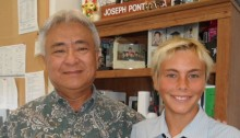 Council Member Joe Pontanilla and student Keoki