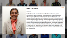 Pualani Enos, Omidyar Fellow, 2015-16 cohort