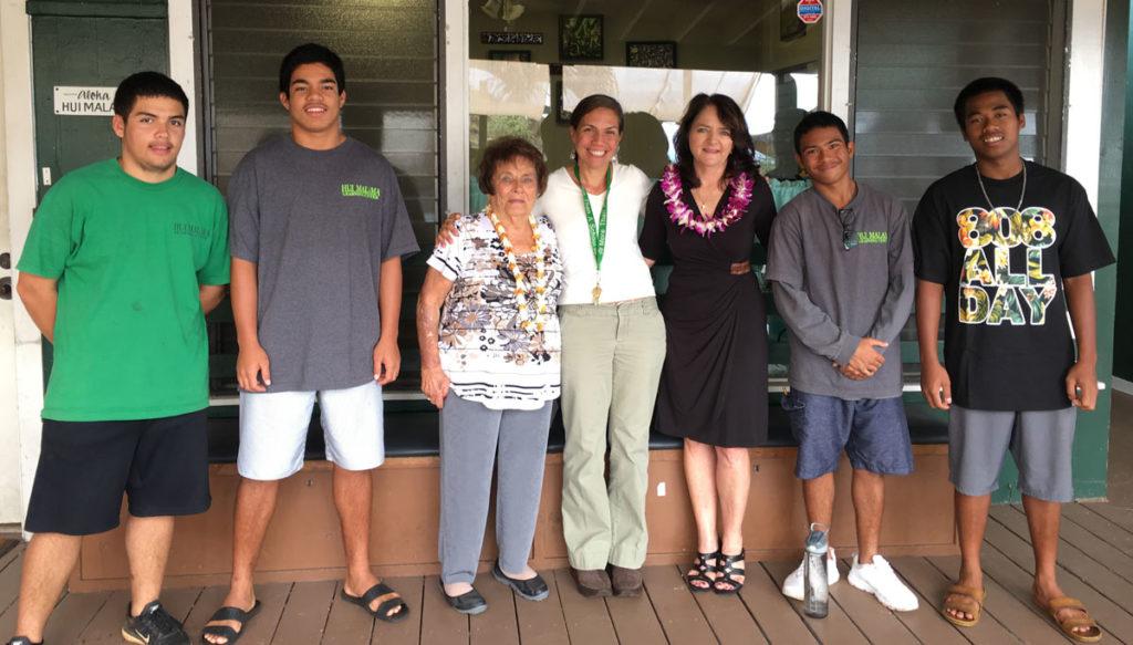 Photo commemorating Leis family donation to Maui Hui Malama
