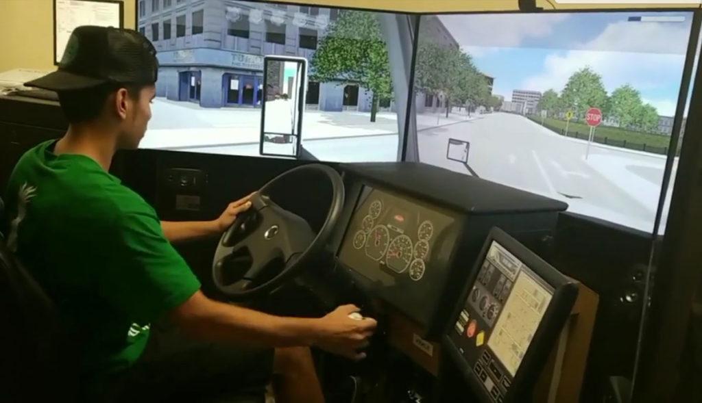 CDL simulator cab